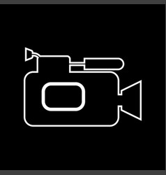 Videocamera it is icon vector