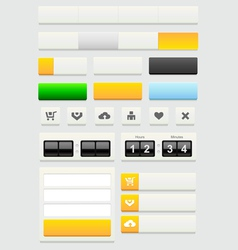Web design elements set vector image