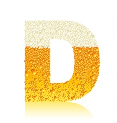 Alphabet beer d vector