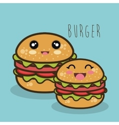 Fast food burger cartoon graphic isolated vector