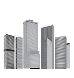 city skyline in grey colors vector image