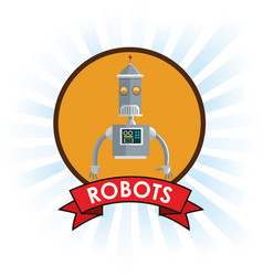 Robots technology science future banner vector