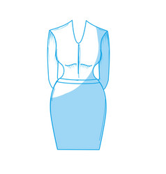 Silhouette nice woman wear style design vector