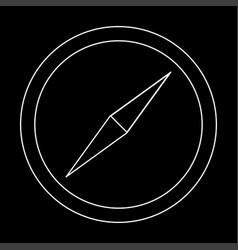 Compass the white path icon vector
