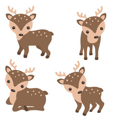 Set of cute reindeer set of cute reindeer vector