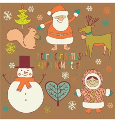 Winter christmas card vector