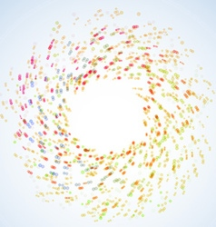 Bright tornado colorful rainbow swirl vector
