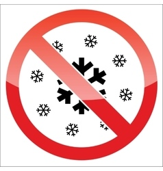 Snow forbidden icon vector