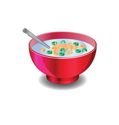 Bowl of cereal vector