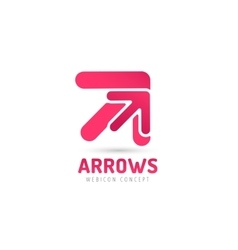 Arrow icon abstract logo template vector