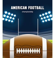 american football realistic theme eps 10 vector image