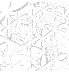 Abstract flower white texture vector
