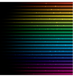 Abstract horizontal colorful rainbow vector image