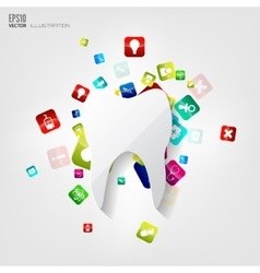 Abstract medical background with application icons vector