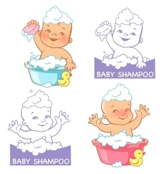 and logo for baby products vector image