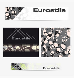 banner advertising templates vector image