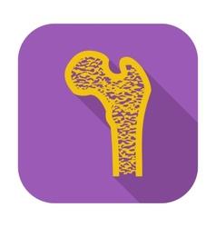 Bone icon vector image vector image