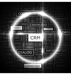 CRM vector image vector image