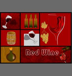 Design set for drink wine vector