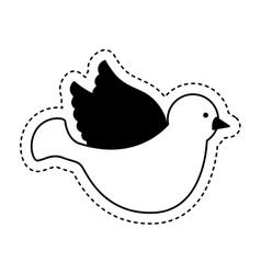 Dove first communion icon vector