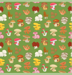 edible mushroom seamless pattern vector image