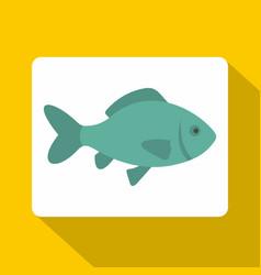 fresh raw fish icon flat style vector image vector image