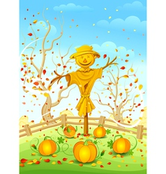 Funny scarecrow vector image vector image