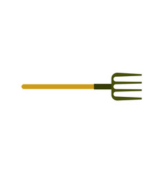 garden pitchfork isolated icon vector image