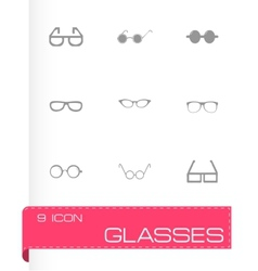 glasses icon set vector image vector image