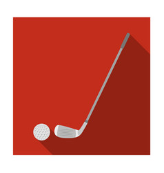 golf icon in flat style isolated on white vector image vector image