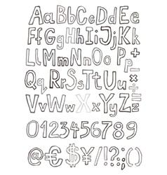 Grunge letter set vector image vector image