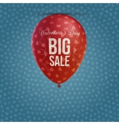 Holiday balloon with valentines day big sale text vector