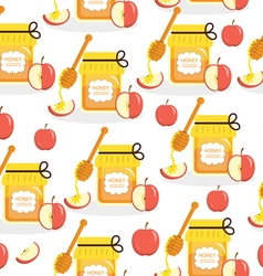 Honey and apples seamless texture vector image vector image