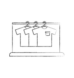 laundry garment hang cleaning washing vector image