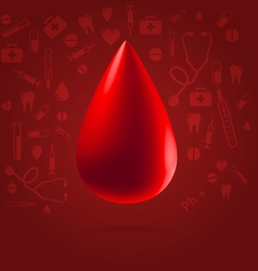 Medical blood donation concept vector image