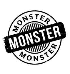 Monster rubber stamp vector