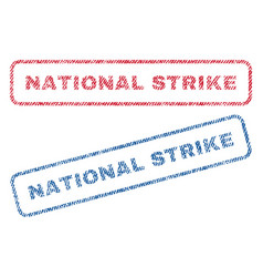 National strike textile stamps vector