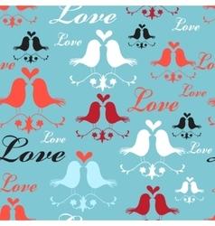 Pattern of lovers birds vector image
