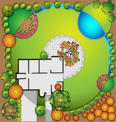 Plan of garden vector image
