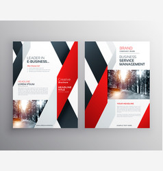 red black geometric shape business flyer poster vector image