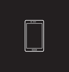 Smartphone line icon outline logo vector
