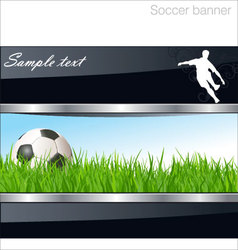 soccer banner vector image vector image