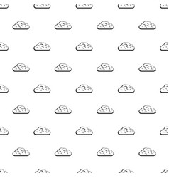 winter cloud pattern vector image vector image