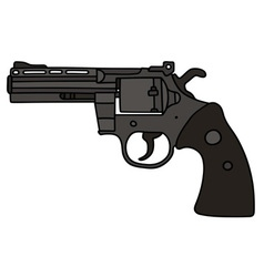 Black big revolver vector image