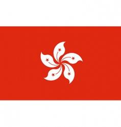 Hong Kong flag vector image