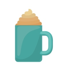 Cup of cappuccino with cream vector