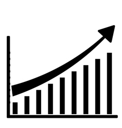 growing graph icon vector image