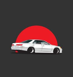 japan tuning car vector image