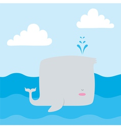 Whale vector