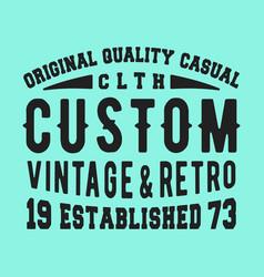 t-shirt print design vector image